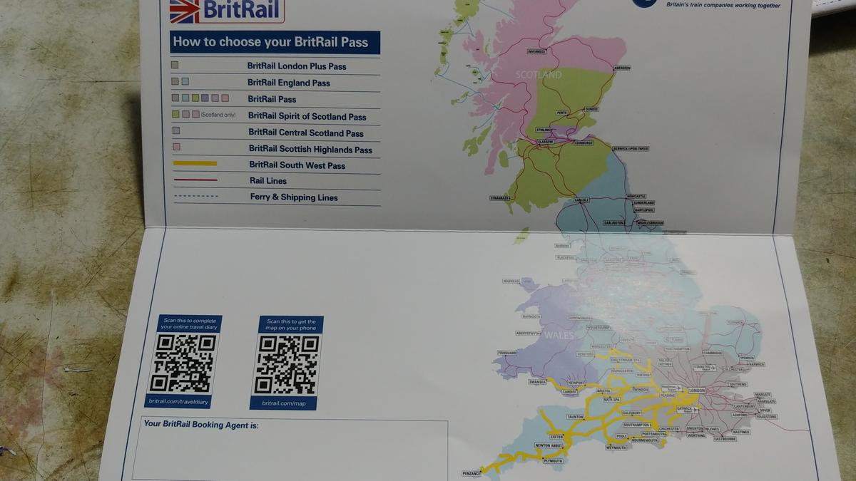 BritRail South West Pass (Consecutive 3, 4, 8, 15, 22 Days or 1 Month)