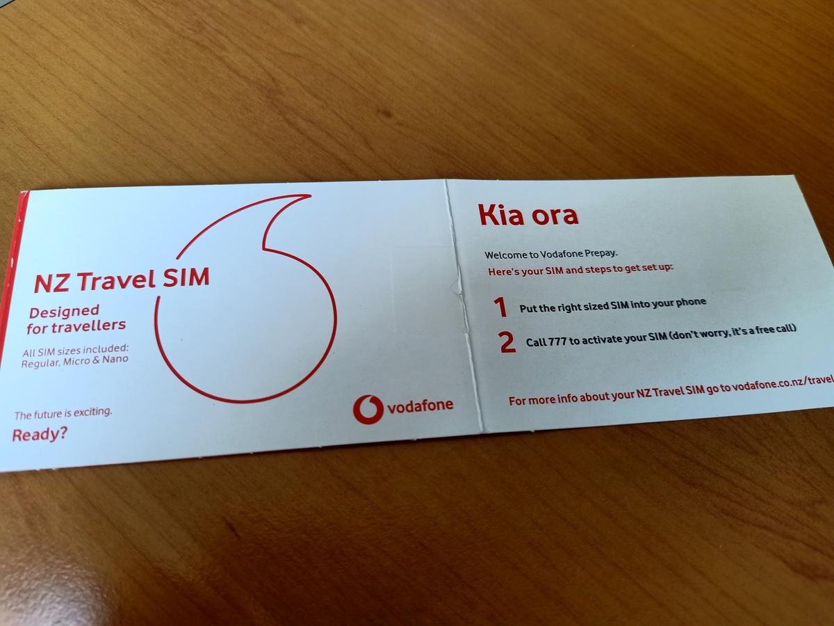 4G SIM Card for New Zealand by Vodafone