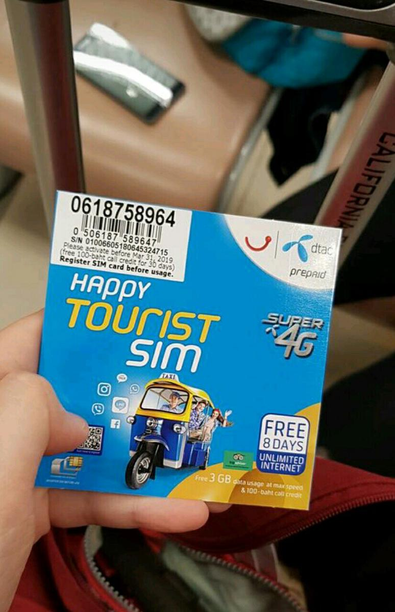 3G/4G SIM Card (CNX Airport Pick Up) for Thailand - Klook