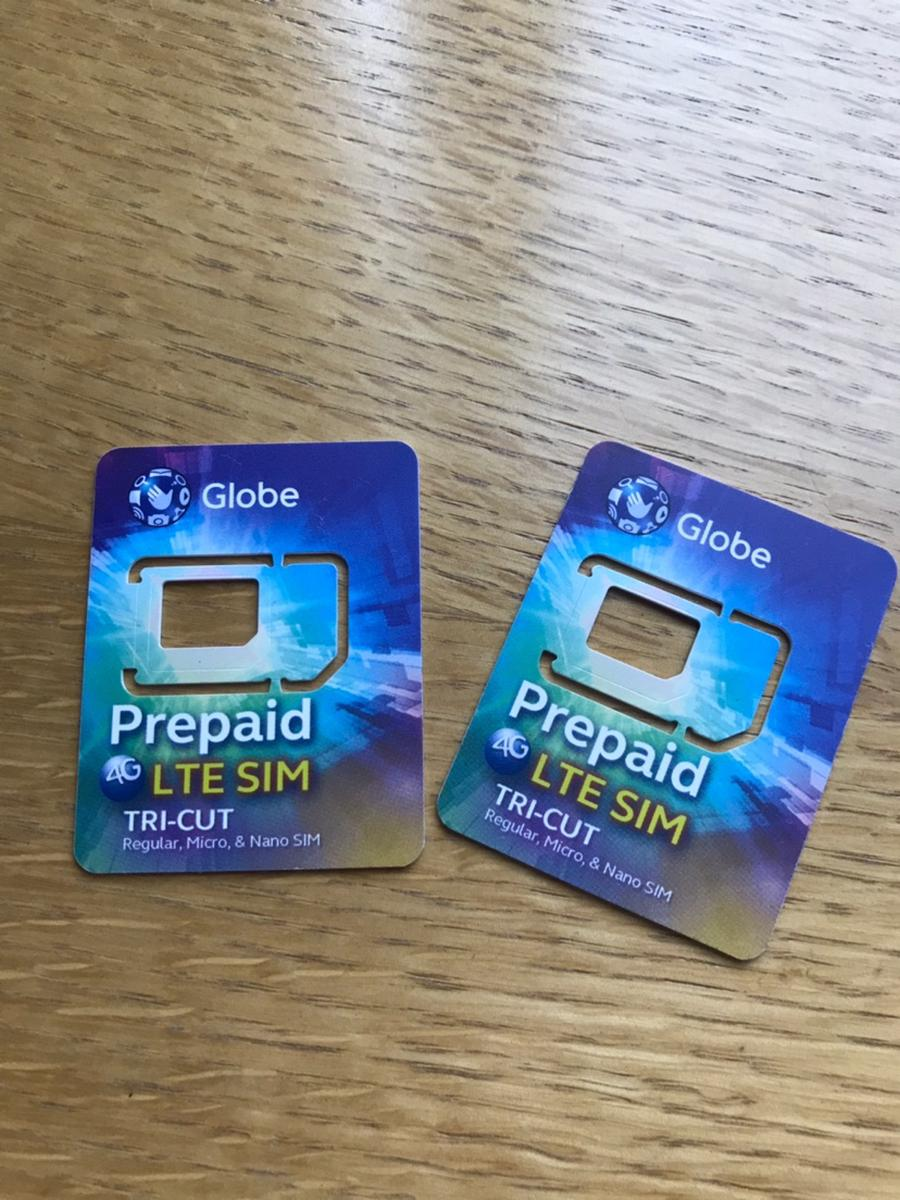 Globe 3G/4G SIM Card (PH Airport Pick Up) for the Philippines