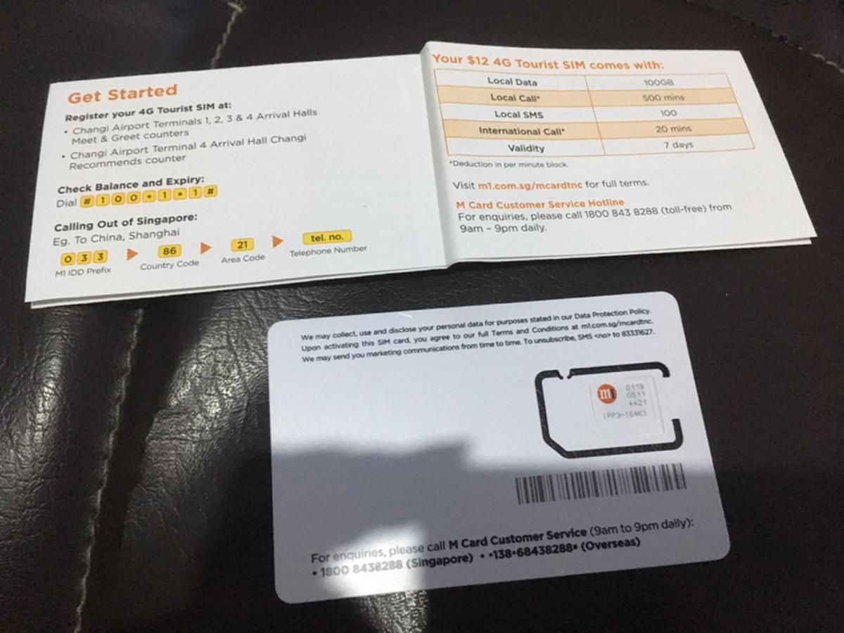 4G SIM Card (SG Pick Up) for Singapore
