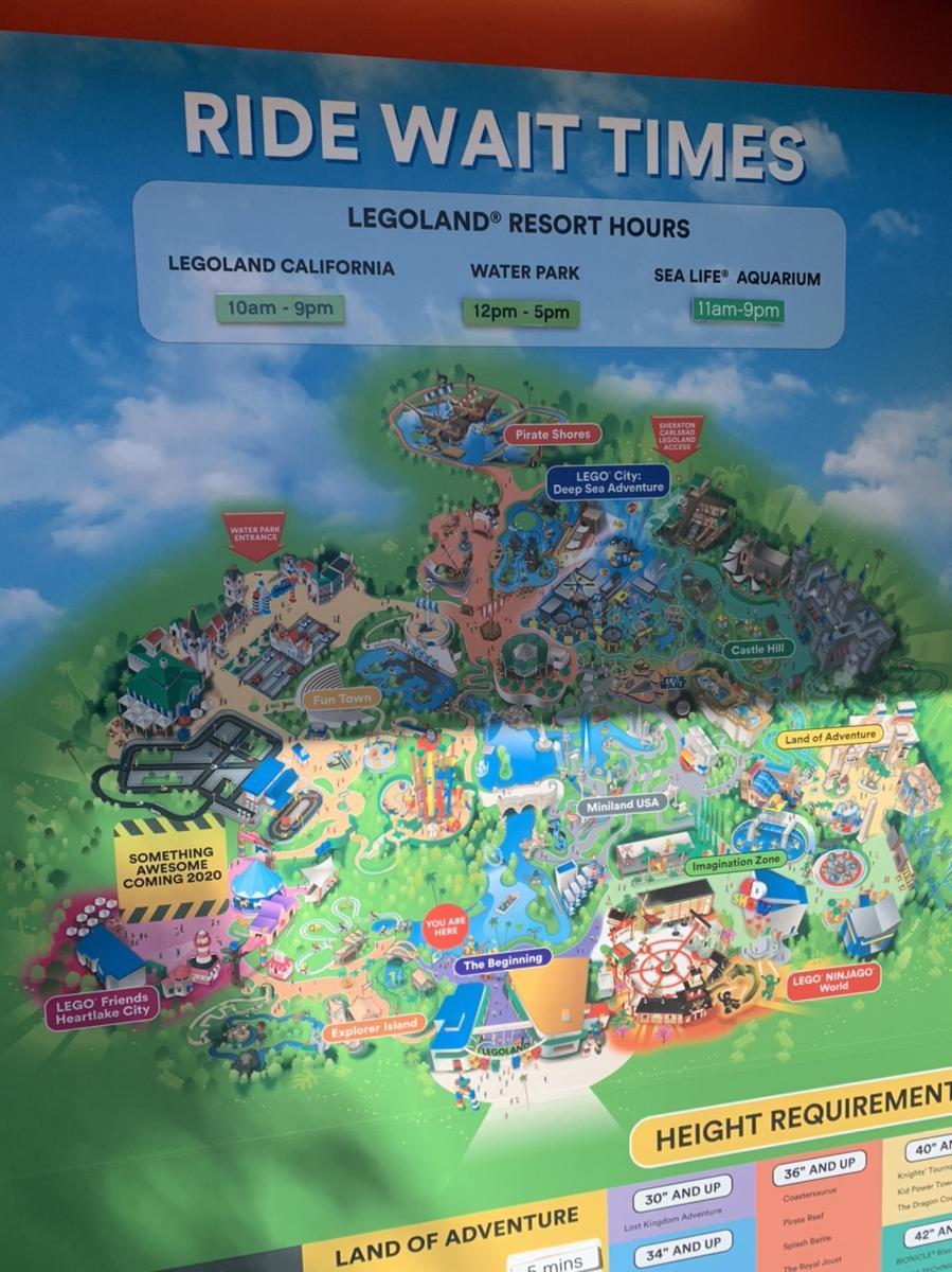 Legoland Sea Life Aquarium Map